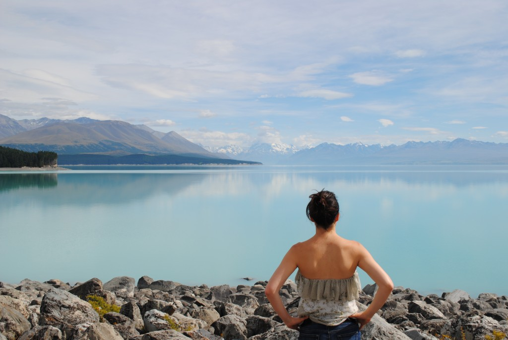 Looking over Lake Tekapo, New Zealand